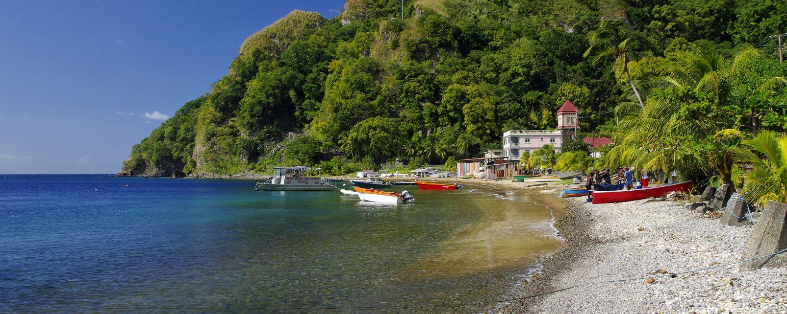 Le spiagge di Dominica, Le spiagge, Le rive, Dominica