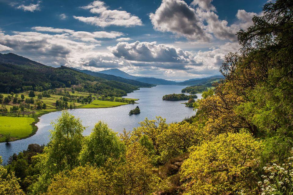 Les Highlands , Queen's View sur le Loch Tummel , Royaume-Uni