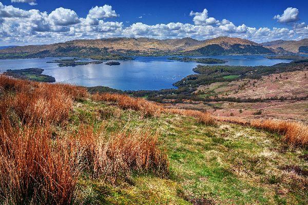 Le Lowlands , Le Lowlands, sud della Scozia , Regno Unito