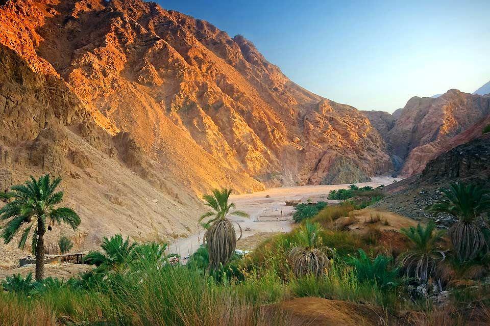 El punto más alto de Egipto, El desierto arábigo, Los paisajes, Egipto