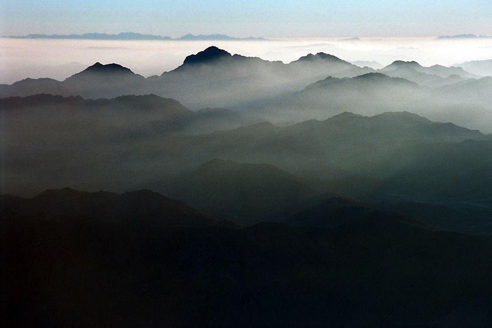 Un desierto de montaña, El desierto arábigo, Los paisajes, Egipto