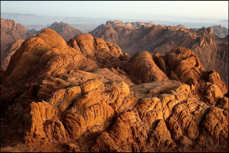Salida de sol en el Sinaí, El desierto arábigo, Los paisajes, Egipto