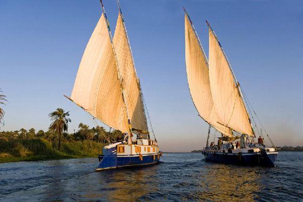 La vallée du Nil , Les champs de Louxor , Egypte