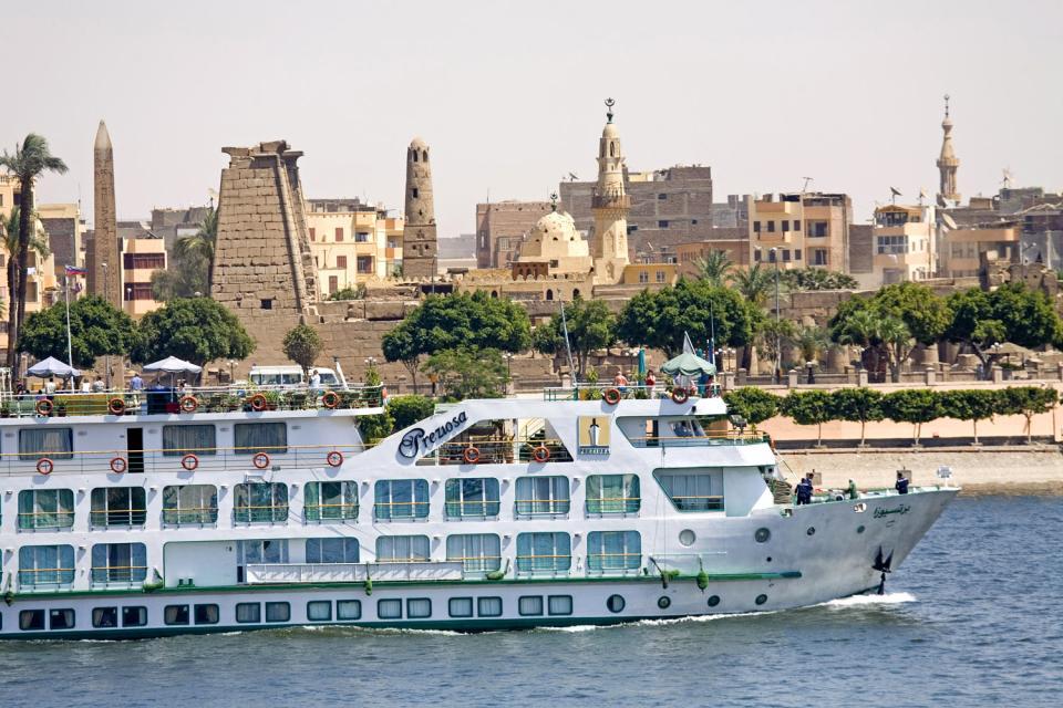 Das Niltal , Die Nilufer , Ägypten