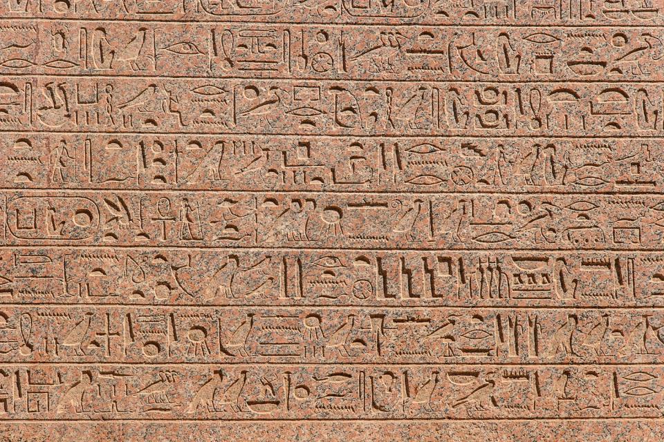 Luxor , Iscrizioni geroglifiche , Egitto