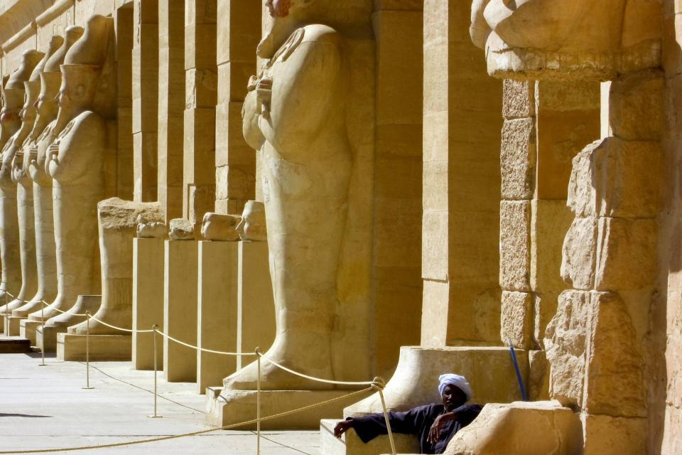 The Nile temples , The Hatshepsut's temple , Egypt