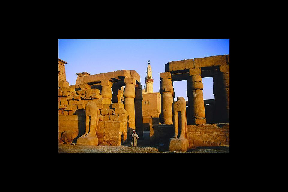 The Nile temples , The Amun Temple in Luxor , Egypt