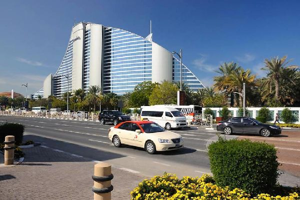 The luxury hotels of Jumeirah , United Arab Emirates