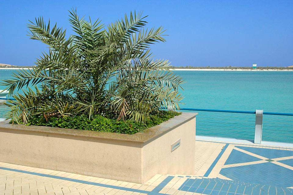 The cornice of Abu Dhabi , United Arab Emirates