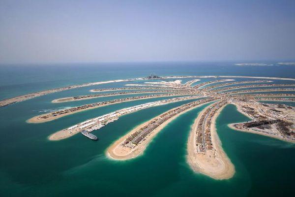 The Dubai palm islands , United Arab Emirates