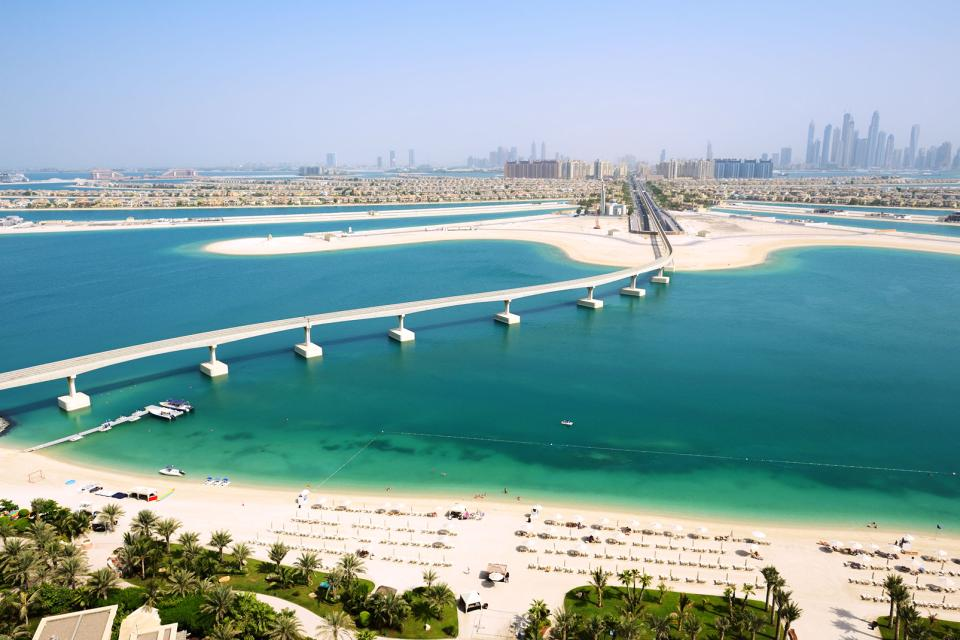 The Dubai palm islands , United Arab Emirates