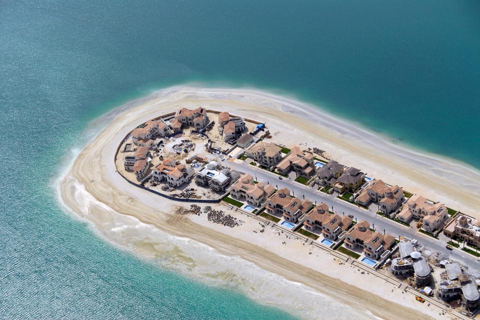 Palm islands duba emirats arabes unis - La contemporaine residence de plage las palmeras ...