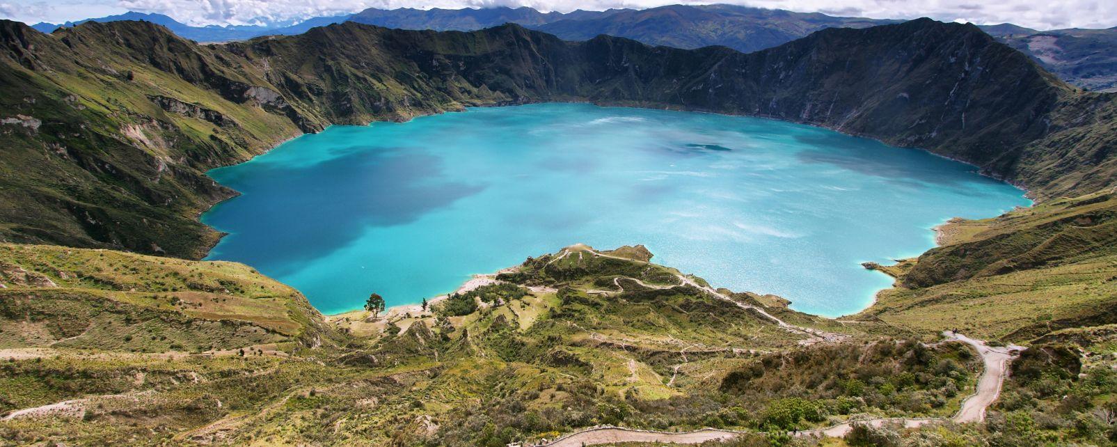 La lagune de Quilotoa, Les paysages, Equateur et Galapagos