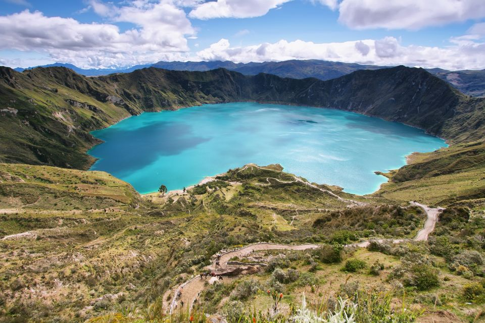 The Quilotoa Lagoon, Landscapes, Ecuador and Galapagos Islands