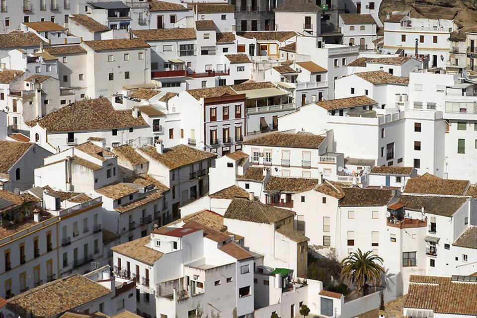 Los pueblos blancos , Uno de los pueblos blancos andaluces , España