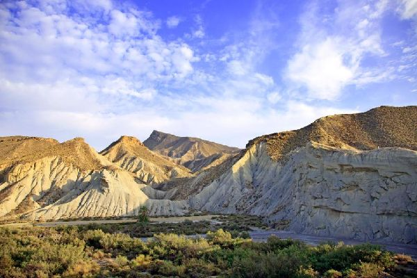 The Tabernas Desert , Spain