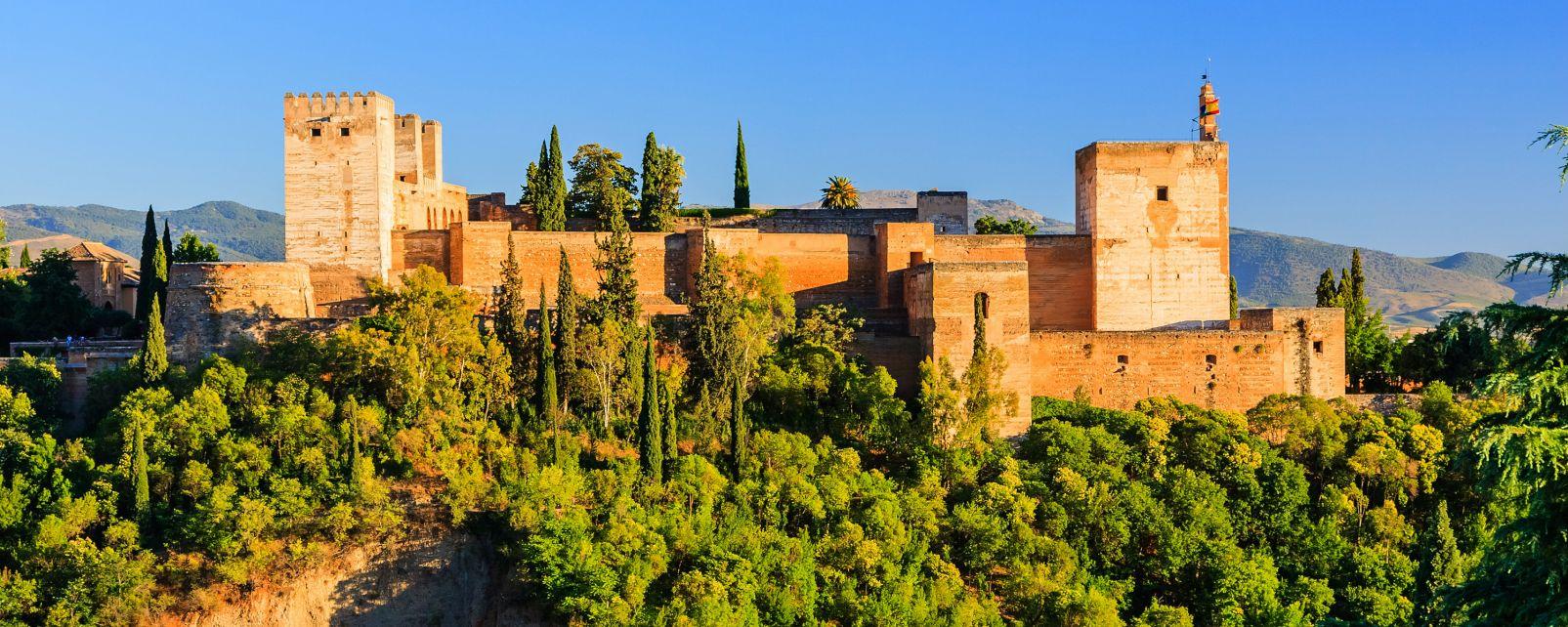 Les paysages, alhambra, grenade, andalousie, espagne, fort, europe, mauresque, citadelle