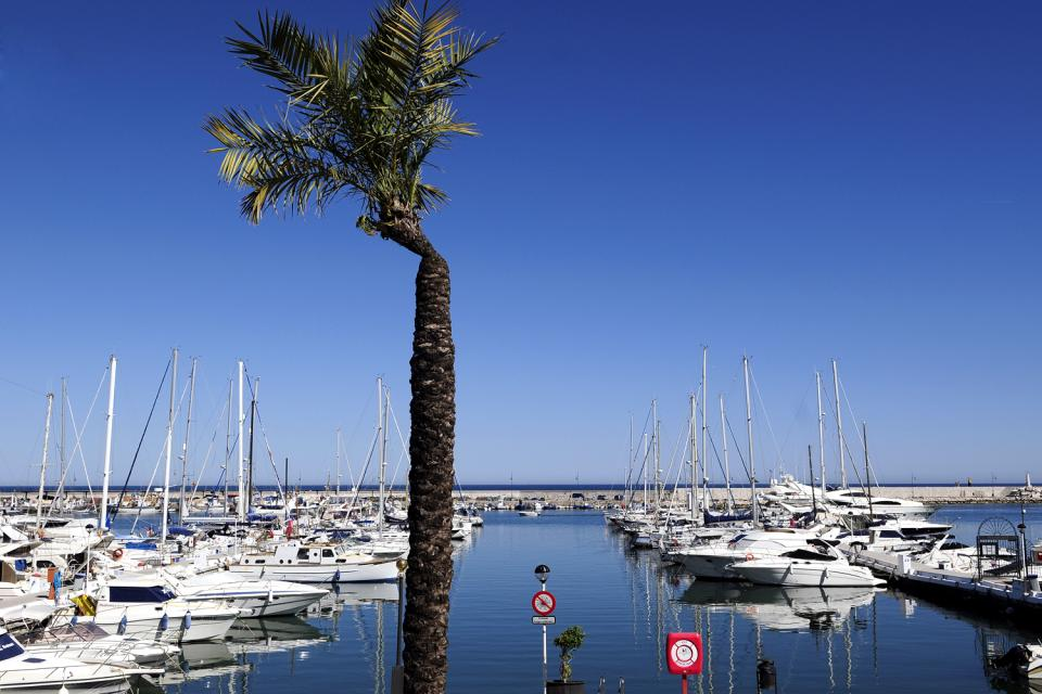Costa del Sol , Estepona , View of a typical village , Spain