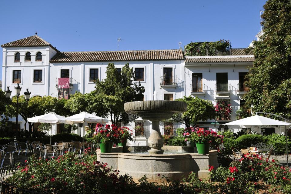 Costa del Sol , Estepona , La place des Fleurs , Espagne