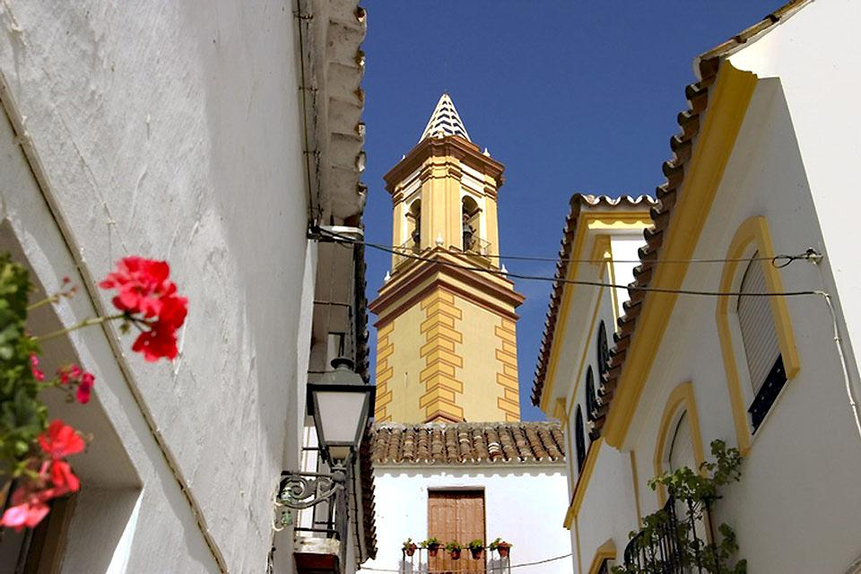 Costa del Sol , Estepona , View of the clock tower , Spain