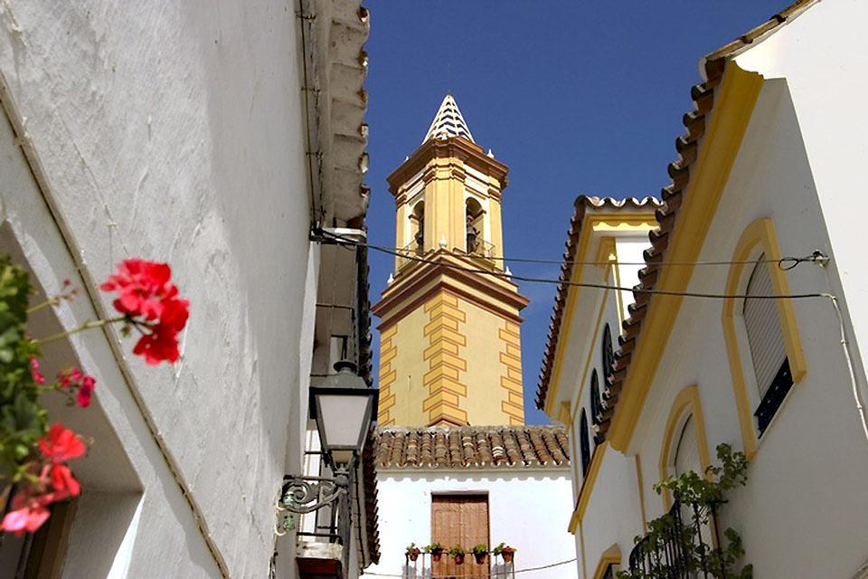 Costa del Sol , Estepona , Façade fleurie , Espagne