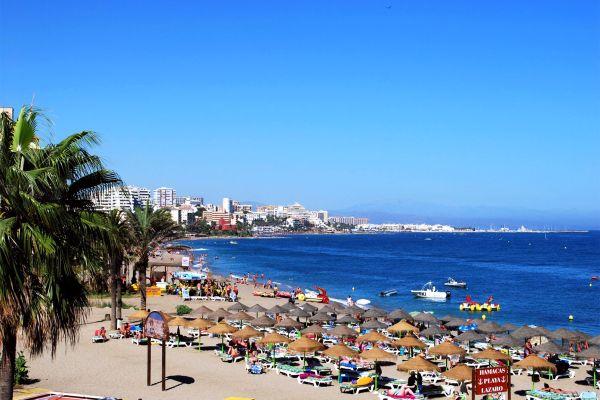 La plage de Bénalmadéna, Costa del Sol - Benalmadena Costa, Les côtes, Andalousie