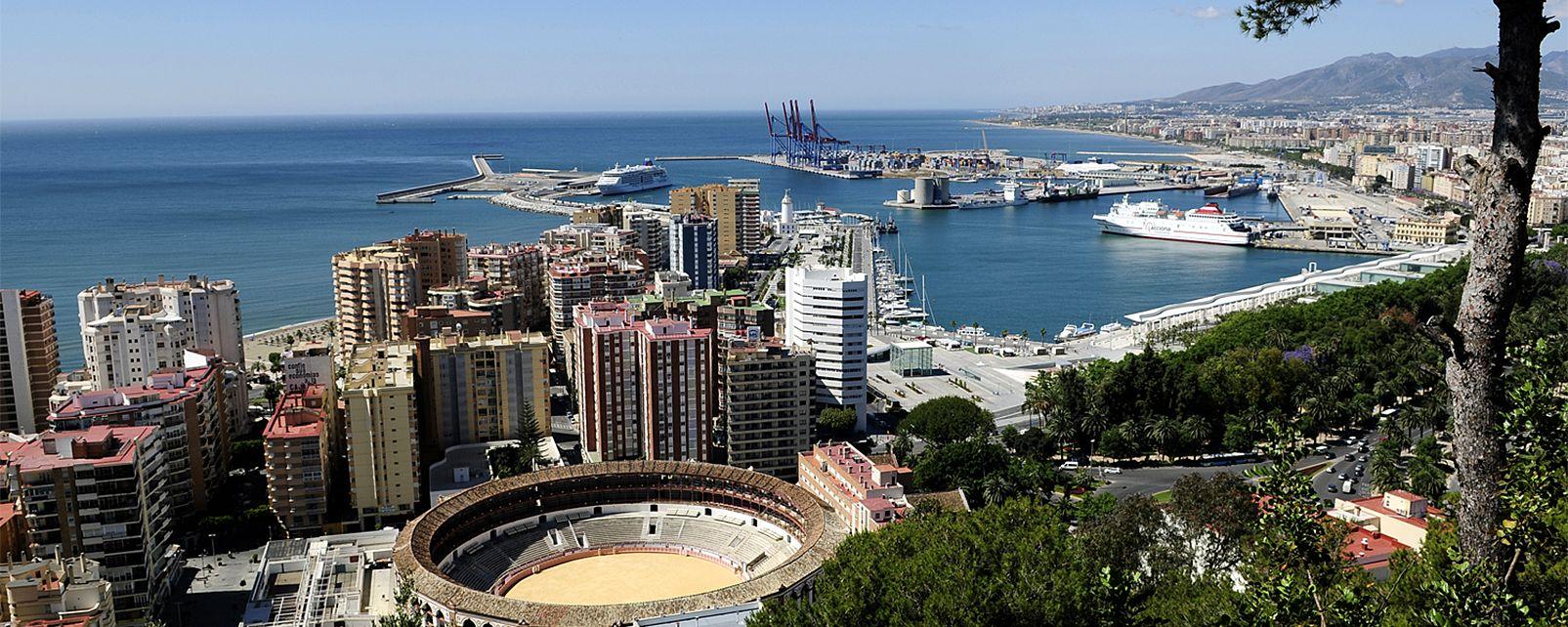 Vistas de Málaga, Costa del Sol - Málaga, Las costas, Andalucía