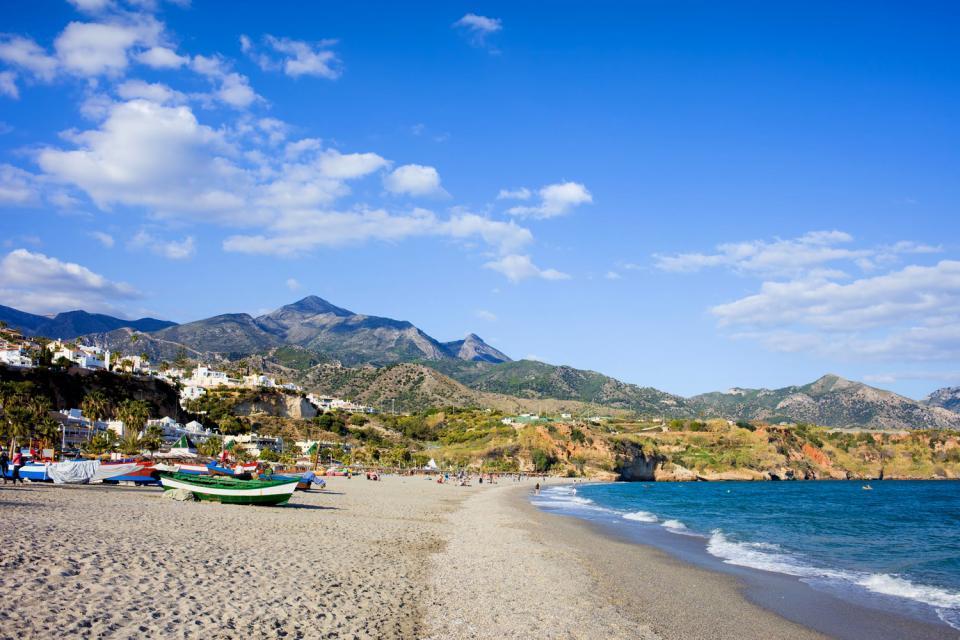 Costa del Sol , Nerja , La playa de Nerja , España