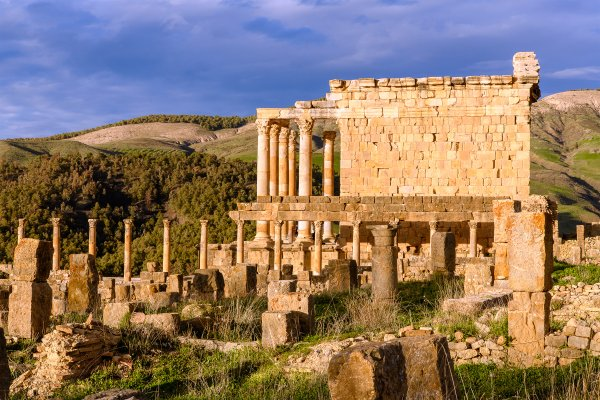 Die römischen Ruinen , Timgad , Algerien