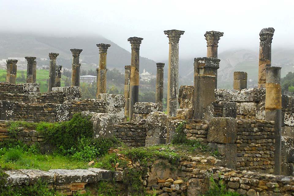 Las ruinas romanas , El yacimiento de Tipasa , Argelia