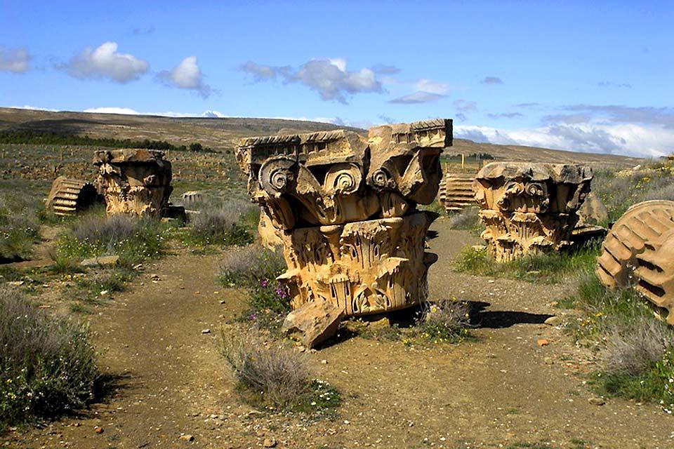 Las ruinas romanas , Djémila , Argelia