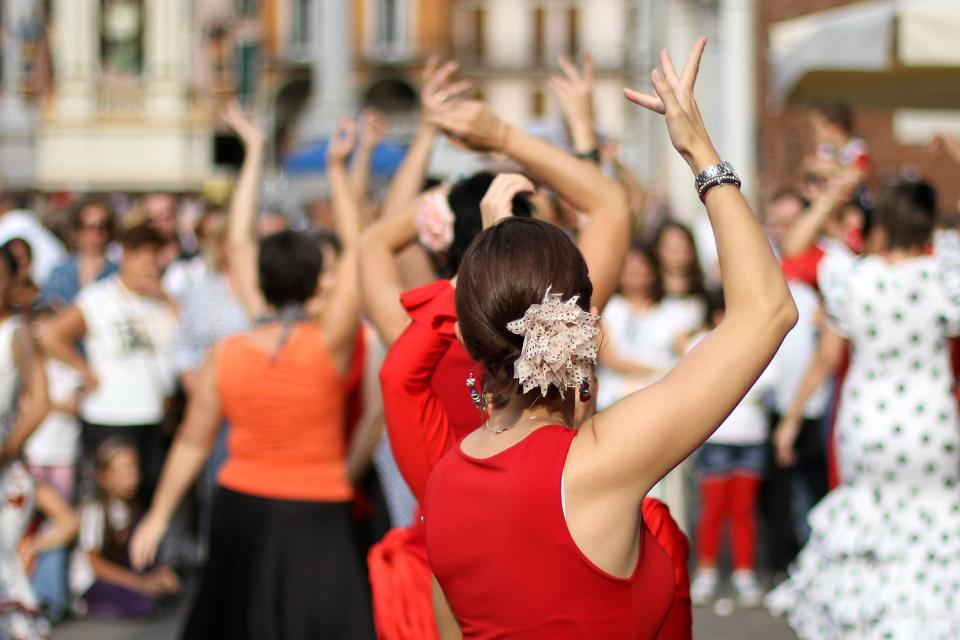 Il museo Romero de Torres (Cordoba) , Ballerine di flamenco , Spagna