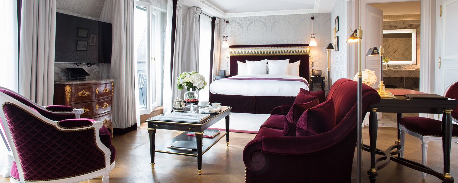 hotel la reserve paris paris frankreich. Black Bedroom Furniture Sets. Home Design Ideas