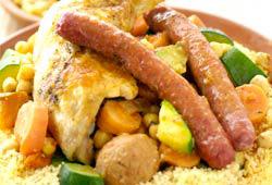 Le couscous poulet merguez