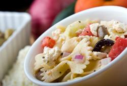 Ensalada de pasta al estilo griego