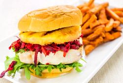Hamburger façon Hawaï
