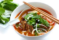 The original Vietnamese bo bun