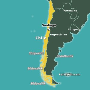 Karte Chile