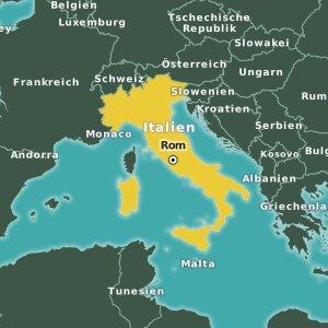 Karte Italien