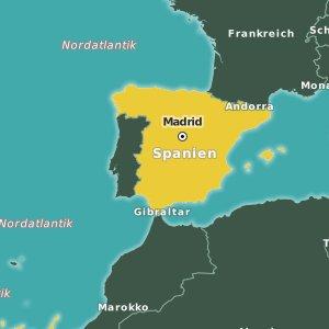 Karte Spanien