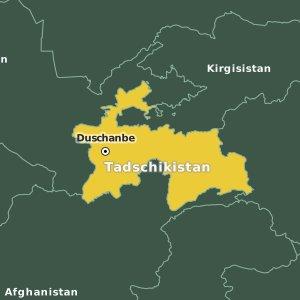 Duschanbe tadschikistan karte