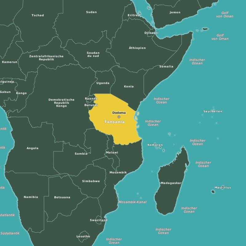 Karte Tansania