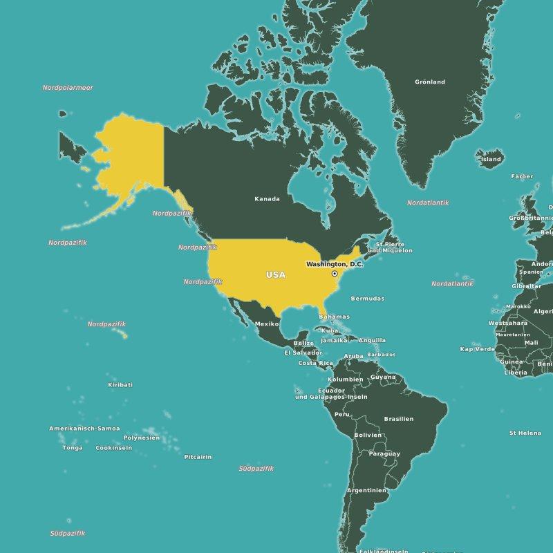 Karte USA