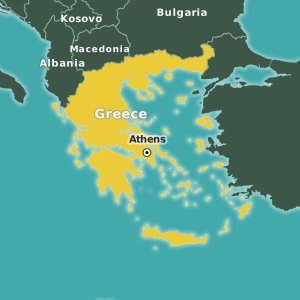 map Greece
