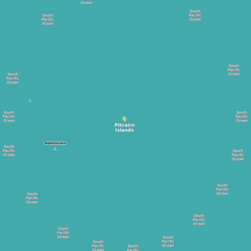 map Pitcairn Islands