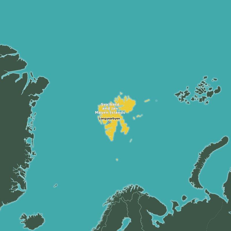 map Svalbard and Jan Mayen Islands