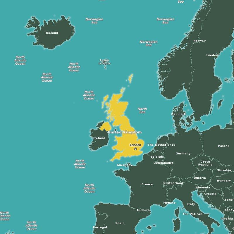 map United Kingdom