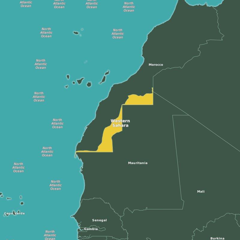 map Western Sahara