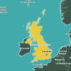 mapa de Reino Unido