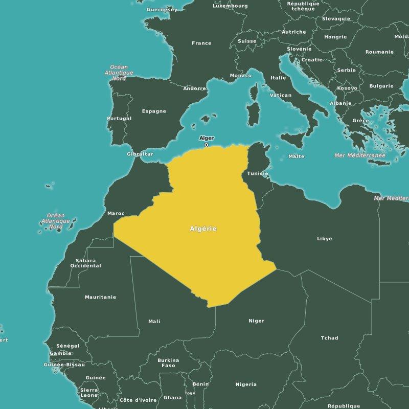 Carte Algerie Villes